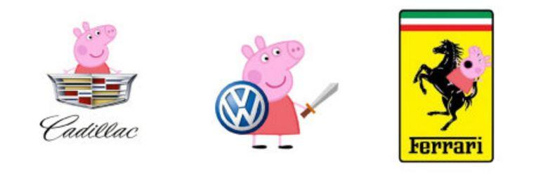 文化艺术:社会人专场,假如全世界的logo都变成小猪佩奇……-BlueDotCC, 蓝点文化创意