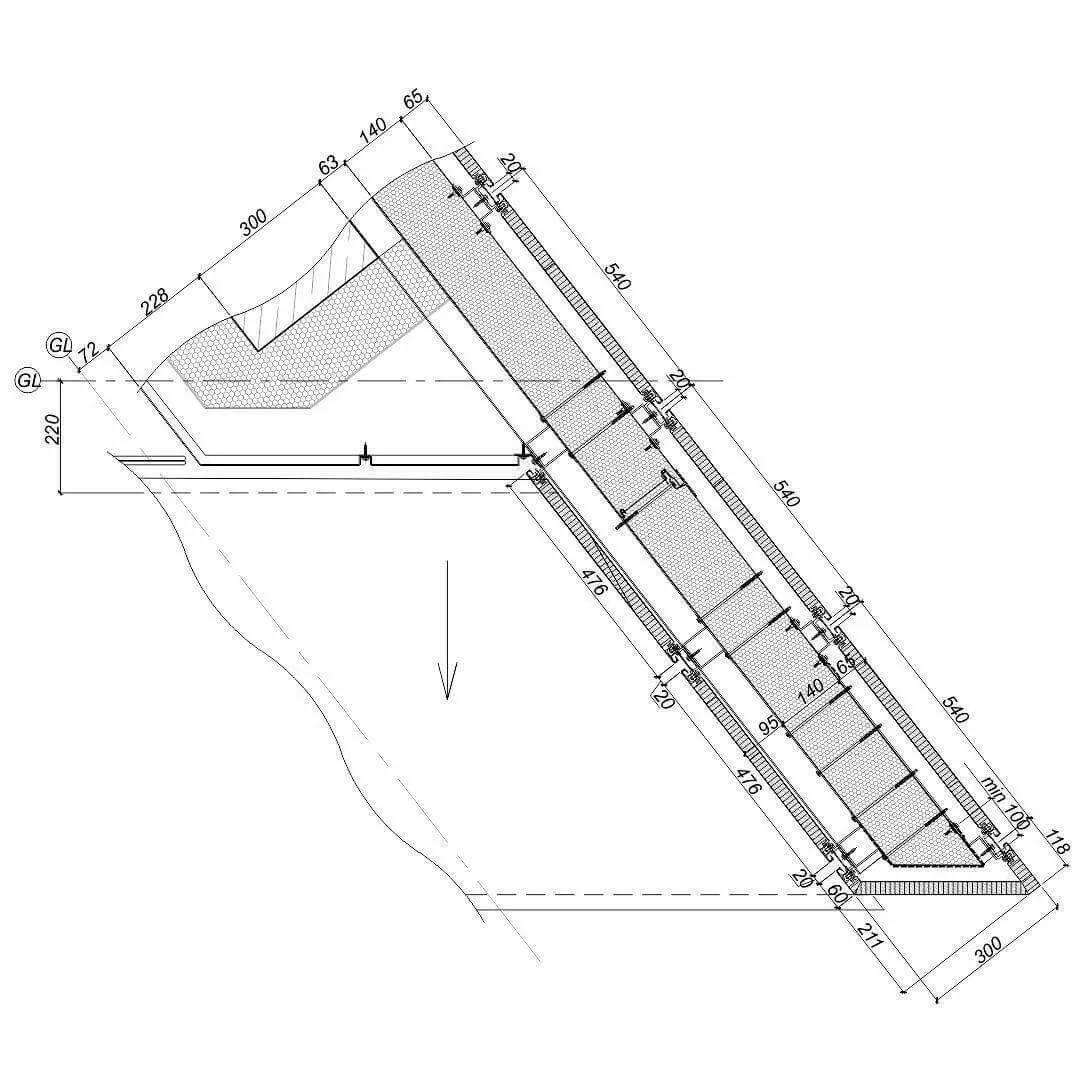 幕墙转角及层间三维放样的必要性,三视图表示不清,就得放样。-BlueDotCC, 蓝点文化创意