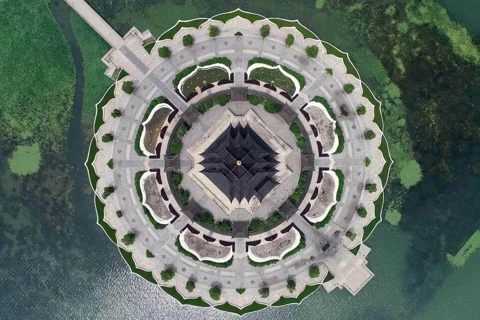 幕墙BIM网:航拍中国,感受航拍视角下的建筑之美-BlueDotCC, 蓝点文化创意