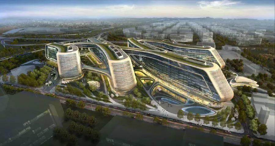 """幕墙BIM网:扎哈遗作!800亿的北京大兴机场迎来首飞,被评为""""新世界七大奇迹""""之首-BlueDotCC, 蓝点文化创意"""