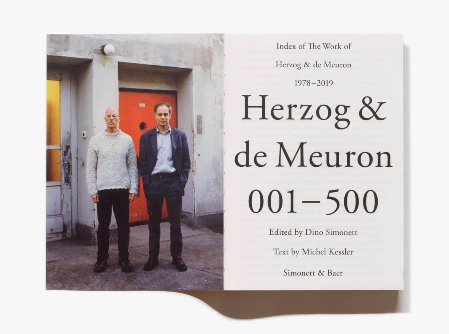 每周一书:Simonett & Baer《Herzog & de Meuron 001 - 500》-BlueDotCC, 蓝点文化创意